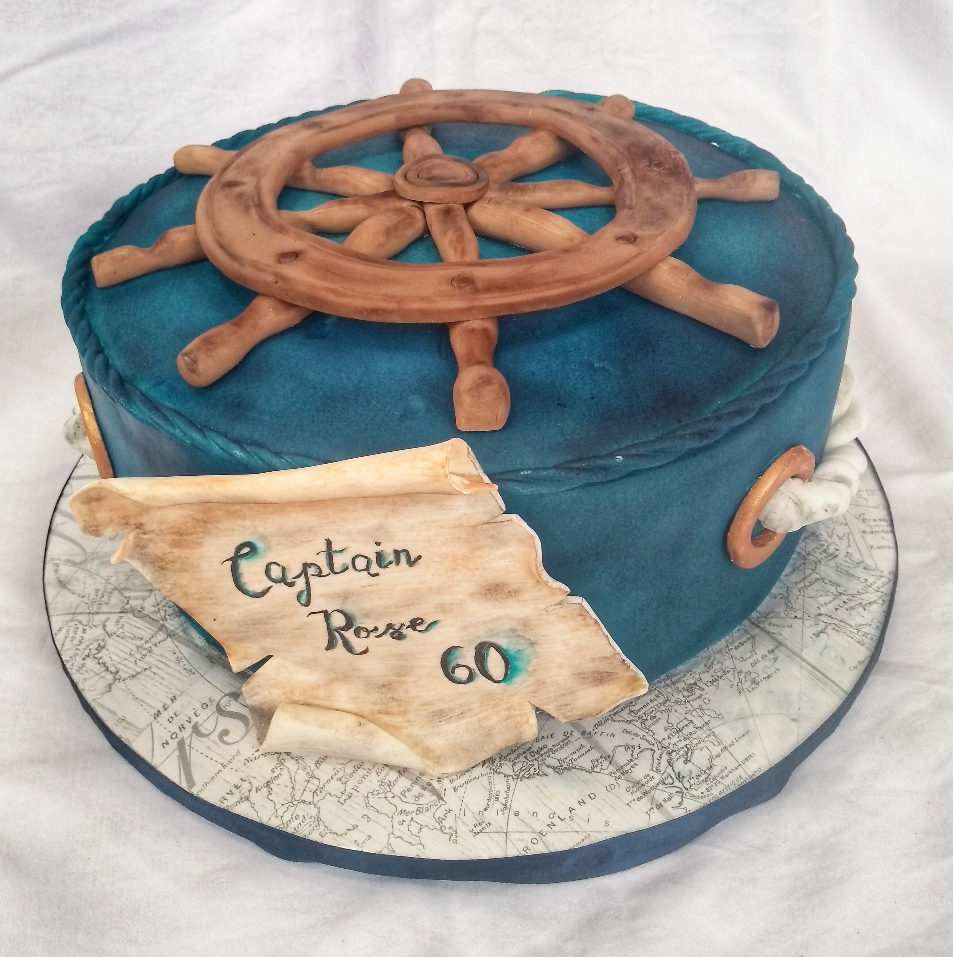 Nautical themed 60th birthday cake